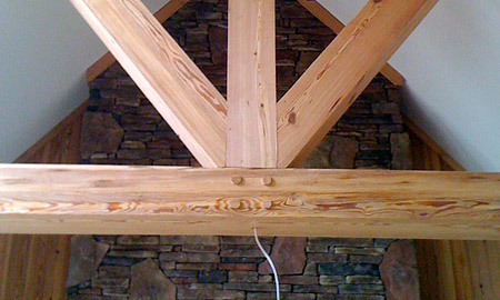 Rough Sawn Finish Beams
