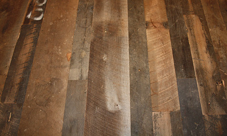 Antique reclaimed barnwood flooring green family materials for Where to buy old barn wood